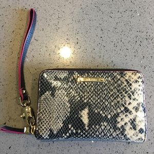 Stella & Dot Snake Skin Tech Wallet